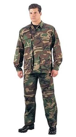 Woodland Camouflage BDU Pants 7941 Size XS