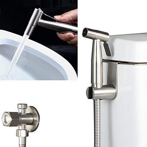 accessoires de nettoyage de toilettes /à eau Uniquement t/ête de pulv/érisation de bidet Pulv/érisateur /à bidet manuel Premium Pulv/érisateur en acier inoxydable Shattaf