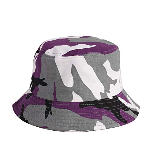 p/úrpura VCB Sombrero de Pescador Hombres y Mujeres Sombrero de Camuflaje Gorro para sombrilla al Aire Libre Sombrero