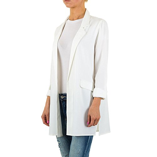 Leichter Blazer Für Damen , Weiß In Gr. M bei Ital-Design