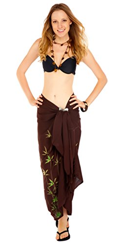 1WorldSarong - Costume intero - Floreale - Donna Brown