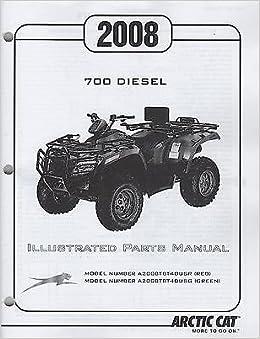 2008 Arctic Cat Atv 4 Wheeler 700 Diesel Parts Manual P N 2258 047 901 Arctic Cat Amazon Com Books
