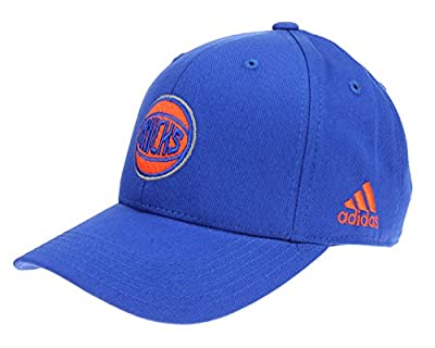 adidas NBA Kid's New York Knicks Basic Adjustable Strap Cap, Blue Kid's (4-7) from Outerstuff