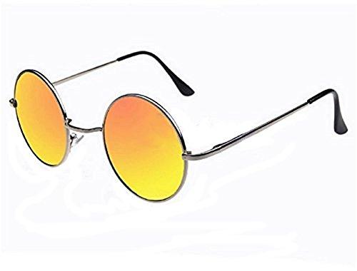 de sol Rojas Plata de Lentes 60 En Montura años Gafas estilo hippie los CwHc7v7qI5