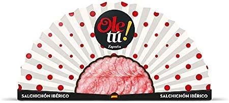 Lote Caprichos OLE TÚ II 6 Ud. Vino Crianza DO La Rioja 2019 + Vino Blanco + Abanico de jamón ibérico + Abanico de Salchichón ibérico + Filetes de caballa. Regalos Gourmet 100% Sabor España.