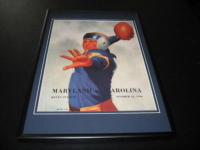 1946 Maryland vs North Carolina Football Framed 10x14 Poster Official Repro