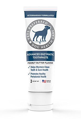 Cet Toothpaste Dog (Vets Preferred Brand New! Advanced Enzymatic Toothpaste for Dogs - VETERINARIAN-GRADE, Safe and Natural Dog Toothpaste - Freshens Dog Breath, Fights Plaque And Reduces Tartar, Peanut Butter Flavor)