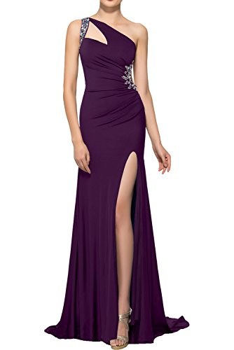 Partykleider Asymmetrisch Schleppe Strass Cocktailkleider Ivydressing mit Abendkleider Traube Rueckfrei Elegant Traeger Ein Promkleider Damen 8qH7xwHEp