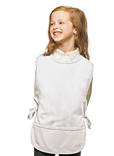 White Kids Cobbler Apron, Poly/Cotton Twill Fabric (Extra Large) (Unisex Apron Cobbler)