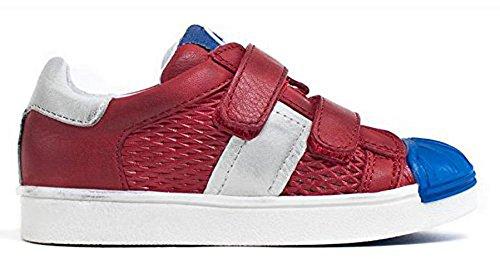 Acebos unisex Leder low Top Sneaker rot