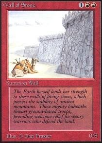 Magic: the Gathering - Wall of Stone - Alpha