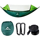 SKL Camping Hammock with Mosquito/Bug Net Lightweight Double Hammock Portable Parachute Nylon Hammocks for Indoor, Outdoor, Backpacking, Hiking, Travel, Backyard, Beach