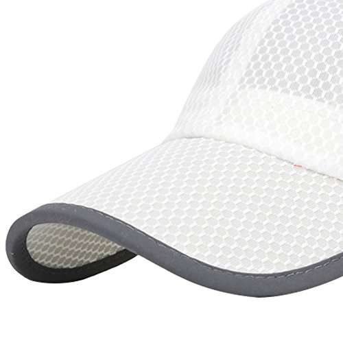 Panegy Unisex Mesh Brim Tennis Cap Outside Sunscreen Quick Dry Adjustable Baseball Hat