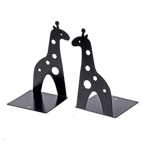 antiscivolo regalo artistico Reggilibri gialli a forma di giraffa in acciaio inox per tenere in ordine i libri