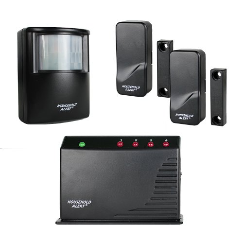 Skylink HA-400  Long Range Household Alert Deluxe Home Business Office Child Safety Protection Motion Window Door Alert & Alarm Security Indoor Outdoor Infrared Detector System Kit