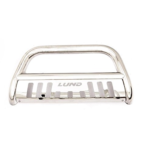 Lund 47021214 Bull Bar with Integrated LED Light Bar, Polished Stainless Steel for 2007+ GM Trucks & SUVs
