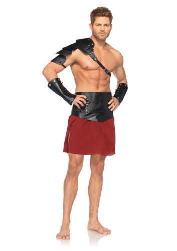 Leg Avenue Men's 4 Piece Warrior Costume, Brown, X-Large -
