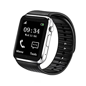 fantime reloj inteligente Bluetooth reloj de pulsera con tarjeta ...