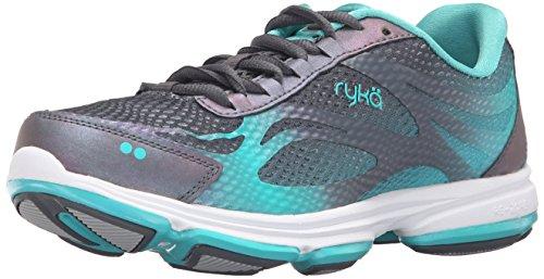Ryka Women's Devo Plus 2 Walking Shoe Grey/Teal