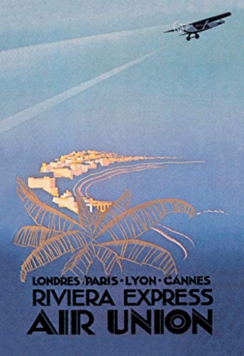 Buyenlarge Riviera Express Air Union Londres Paris Lyon Cannes by E Maurus Wall Decal, 48