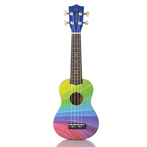 honsing-soprano-ukulele-beginner-hawaii-guitar-uke-basswood-21-inches-with-gig-bag-rainbow-stripes-c