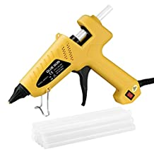OMORC Hot Glue Gun,Heating Hot Melt Glue Gun with 12pcs Melt Glue Sticks,100W Professional Industrial Hot Melt Glue Gun Suitable for School and Office, DIY Arts and Crafts Projects, Home Quick Patch-ups & Repairs-Yellow