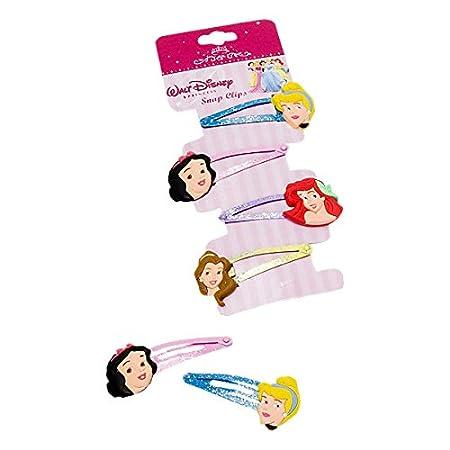 Fermacapelli Disney Multicolore - Fermagli per Capelli delle Principesse Disney