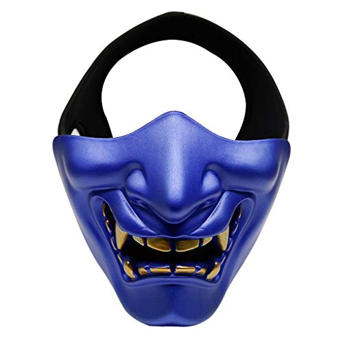 AUWU MA-91 Outdoor Half Face Smile Halloween Party Mask CS Game Cosplay Protective Mask]()