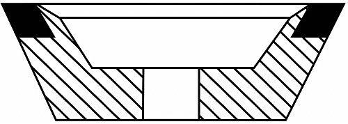 3-3 4 유형 11 입방 질화 붕소 연삭 휠, 1-1 4 Arbor, 1-1 2 -Thick..