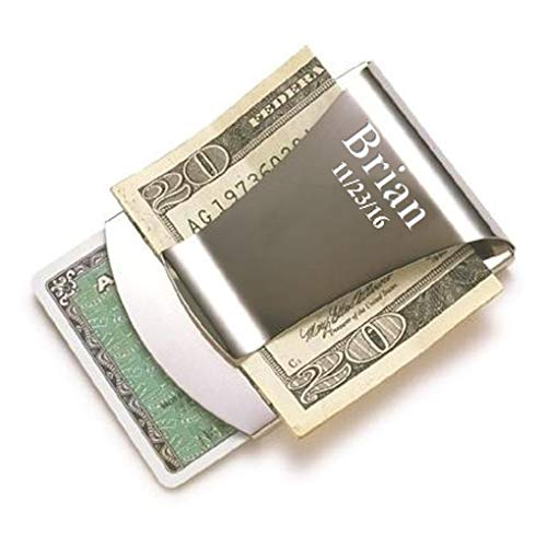 Personalized Smart Money Clip & Credit Card Holder | Custom Engraved Money Clip | Steel Money Clip Card Holder For Men - Executive Gift Shoppe ()