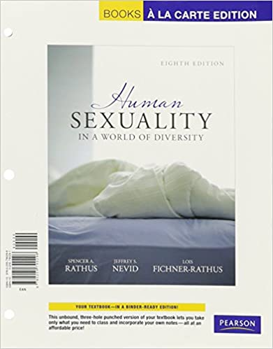 Human sexuality books a la carte edition plus revel