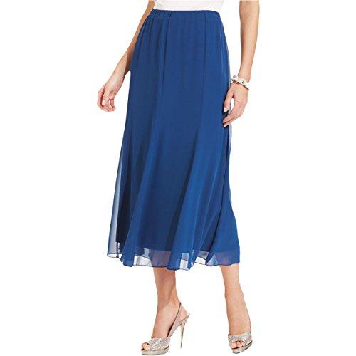 Price comparison product image Alex Evenings Womens Chiffon Pull On Maxi Skirt Blue XL