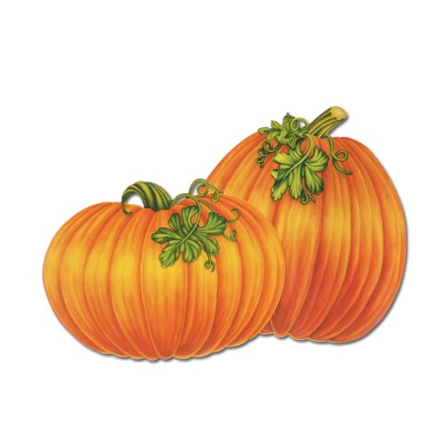 (Beistle 4-Pack Decorative Packaged Pumpkin Cutouts,)