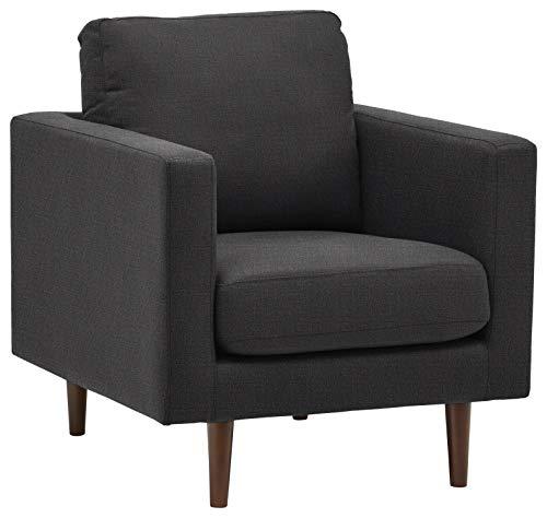 Rivet Revolve Modern Accent Chair, Storm Grey