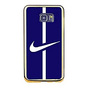Nike Logo Mobile Phone Case Classical Design Nike Just Do It Premium Gold Plastic Frame Phone Case for Samsung Galaxy S6 Edge Plus