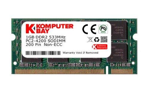 KOMPUTERBAY 1GB DDR2 533MHz PC2-4200 PC2-4300 DDR2 533 (200 PIN) SODIMM Laptop Memory