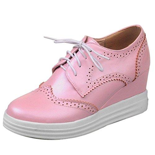 Mode Plateforme Lacets Coolcept Pink Femmes Escarpins 5qg7pcxwSE