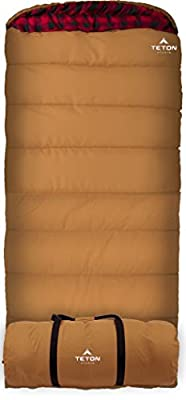 TETON Sports Deer Hunter Sleeping Bag; Warm and Comfortable Sleeping Bag Great for Fishing, Hunting, and Camping; Great for When it's Cold Outdoors