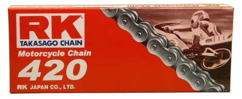 RK Racing Chain M420-110 (420 Series) 110-Links Standard Non O-Ring Chain with Connecting Link
