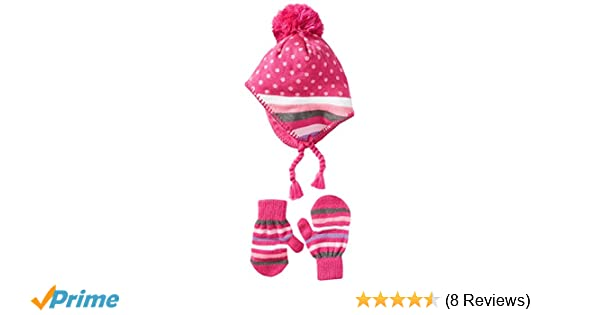 f3159bf9438 Amazon.com  Nolan Gloves Girls  Two-Piece Angelina Fleece-Lined Hat and  Mittens Set