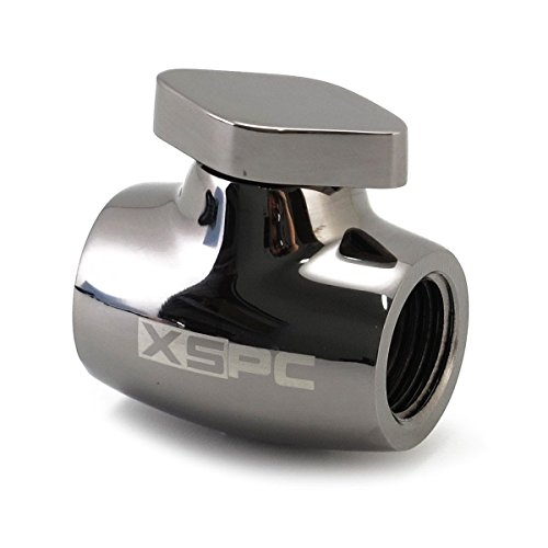 XSPC G1/4 Ball Valve, Black Chrome
