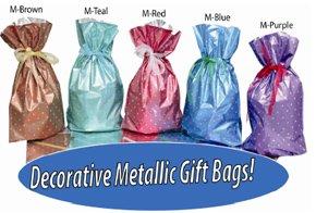 GiftMate 20-Pc. Polka Dot Drawstring Gift Bags
