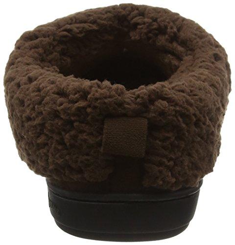 DearfoamsMicrosuede Clog With Whipstitch Tab and Memory Foam -  Zapatillas bajas para mujer Marrón (Espresso 00205)