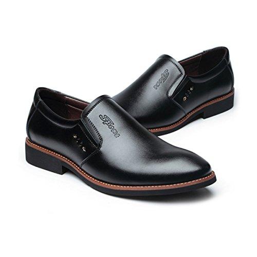La Gentleman Cuir Marié LYZGF À Occasionnels Mode Printemps Été Affaires Black Pointu Chaussures Hommes En AUHnHqx0Z