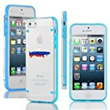 Apple iPhone 6 6s Thin Hybrid Transparent Clear Hard TPU Bumper Case Cover Russia Russian Flag (Light Blue)