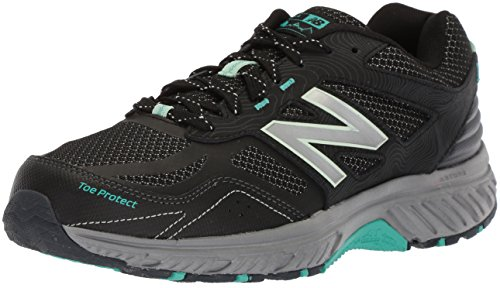New Balance Women's 510v4 Cushioning Trail Running Shoe, Black, 10.5 B US