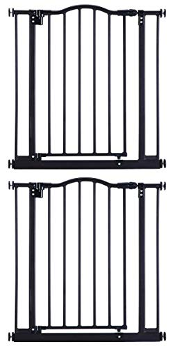 North States 4916 Portico Arch Metal Baby Safety Child Pet Gate, Bronze 2pack