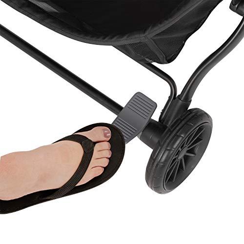 41wGGpJJtzL - Evenflo Aero2 Ultra-Lightweight Double Strollers, Compact, Self-Standing Folding Design, Shopping Basket Single-Child Mode, Seatback Storage Pocket, 2 Mesh In-Seat Pockets, 50-lb Per Seat, Osprey Gray