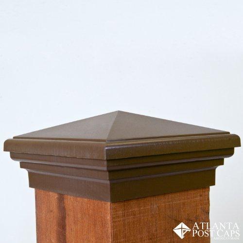 Resin Post Caps : Post cap nominal mocha brown pyramid top with