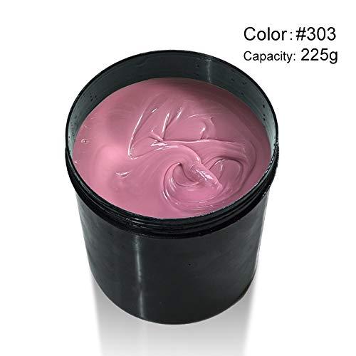 Kit Extenstion (225G Camouflage Nude Color Builder Gel Soak Off UV LED Nail Manicure Extenstion Gel Thicker Nail Gel 303)